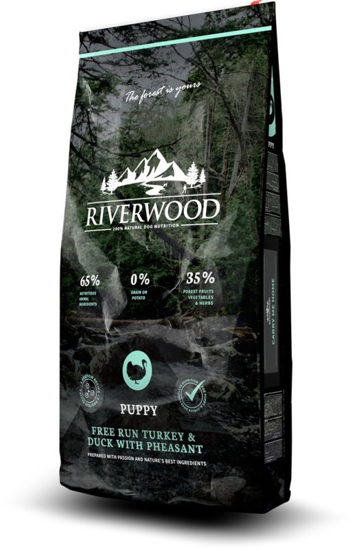 RIVERWOOD | Puppy - Free Run Kalkoen & Eend met Fazant