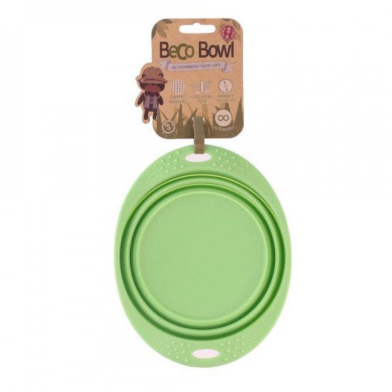 BECO PETS | Travel Bowl - Groen