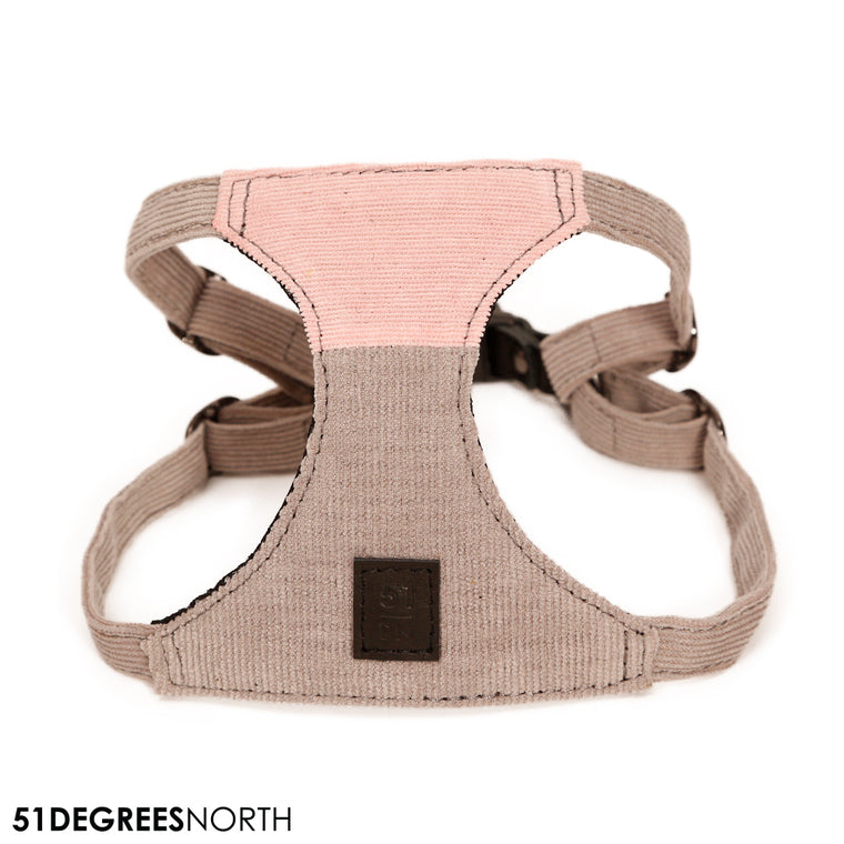 MILANO | Harness Corduroy - Grey/Pink