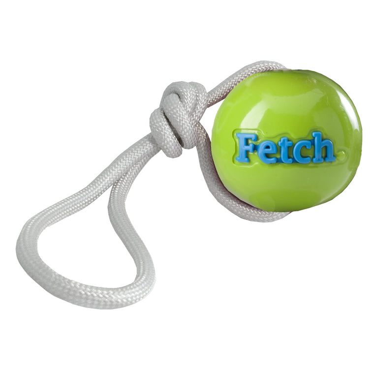 PLANET DOG | Orbee-Tuff Fetch Ball with Rope - Green