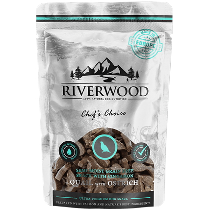 RIVERWOOD | Semi-Moist Snack - Quail & Ostrich