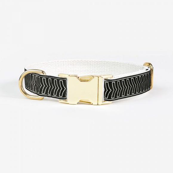 SEE SCOUT SLEEP | Halsband - Chef L'Bark Black & Cream