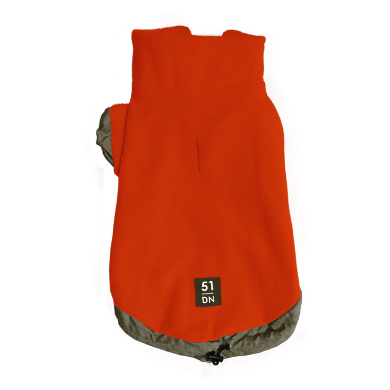 51DN | Fleece Sweater - Orange
