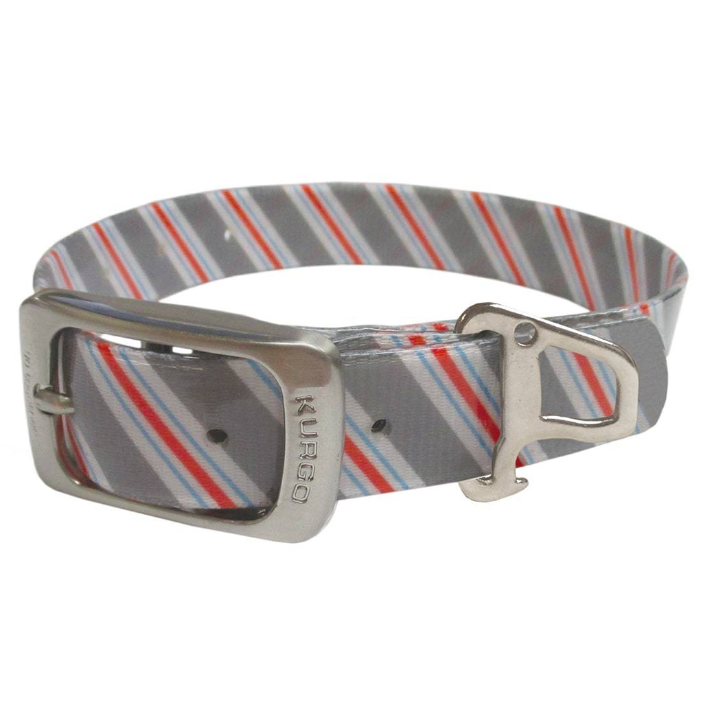 KURGO | Muck Collar - The Prepster Stripe - Granite Grey