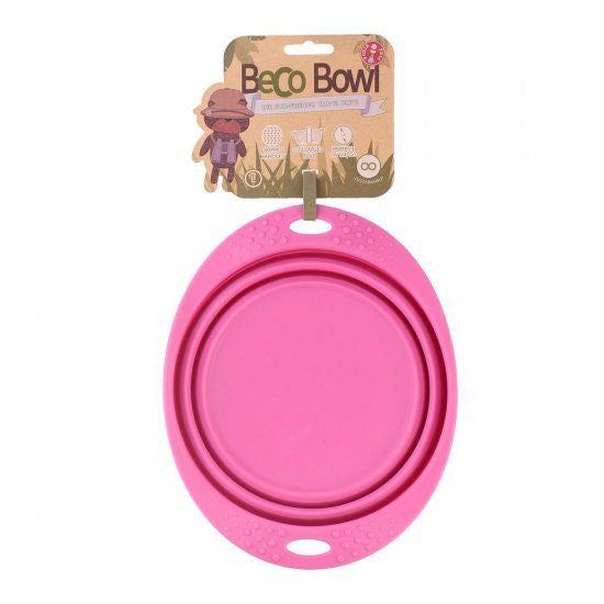 BECO PETS | Travel Bowl - Roze