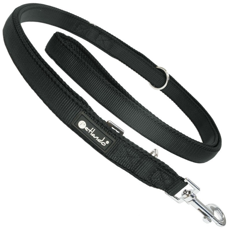PETLANDO | Mesh Adjustable Leash - Black