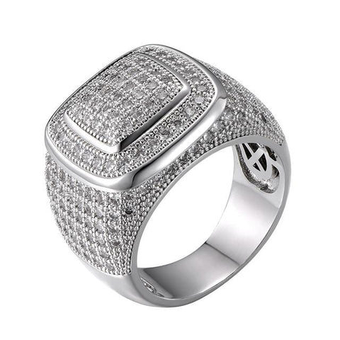 "The best ring are at Street Wear Depot. Just like these ""Iced Out"" Ring"