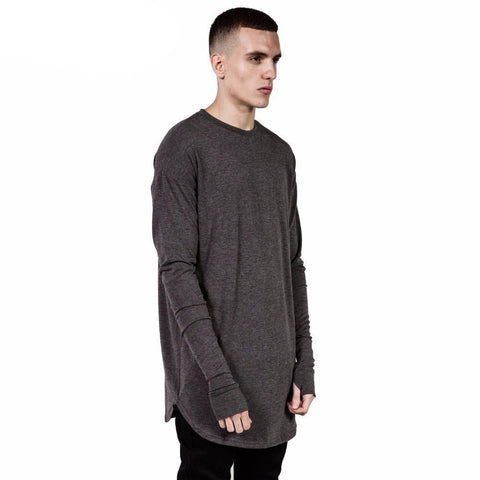 Thumb hole Long sleeve Tee
