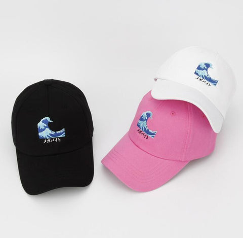 The best hats are at Street Wear Depot. Just like these Katakana Wave Dad Hat