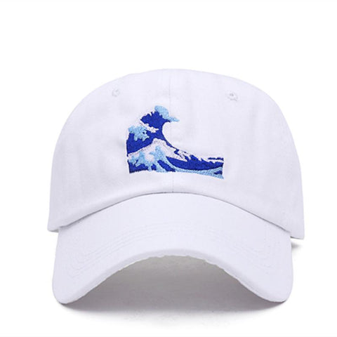 The best hats are at Street Wear Depot. Just like these Kanagawa Wave Dad Hat