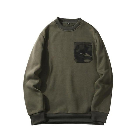The best sweatshirt are at Street Wear Depot. Just like these Pocket Camo Sweatshirts
