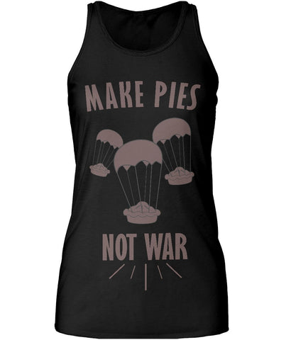 """Make Pies, Not War"" Racer Back Tank Top-Clothing-LouLou-Loves"