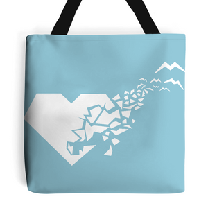 White 'Heart-Breaker' Tote Bag-Accessories-LouLou-Loves