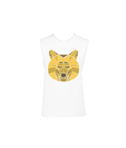 'Lion Heart' Stretch Sleeveless T-Shirt-Clothing-LouLou-Loves