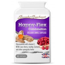Happy-Flex Combination - Joint and Connective Tissue Formula-Supplements-LouLou-Loves