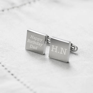 'Hip To Be Square' Solid Steel Cufflinks-Gift-LouLou-Loves