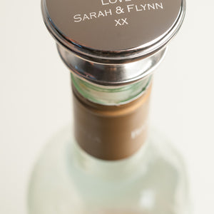 Personalised Silver Wine Stopper-Occasions-LouLou-Loves