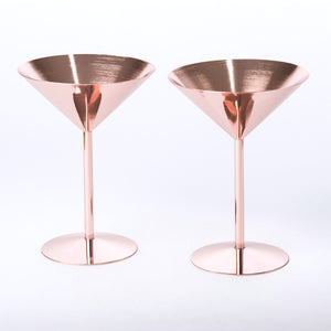Rose Copper Cocktail Glasses-Occasions-LouLou-Loves
