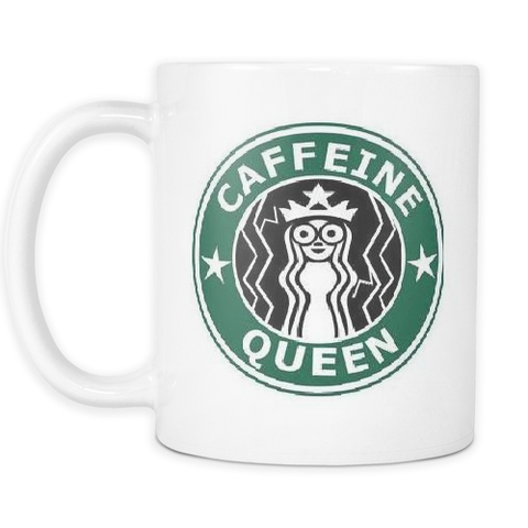'Caffeine Queen' Coffee Mug-Accessories-LouLou-Loves
