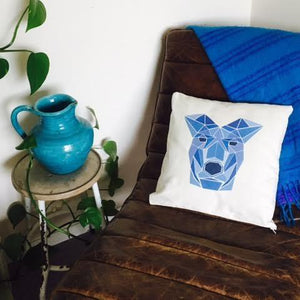 'Doggy' Natural Throw Cushion-Homeware-LouLou-Loves