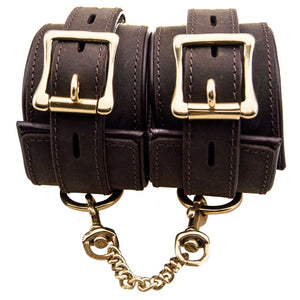 Nubuck Leather Wrist Restraints-Bondage-LouLou-Loves