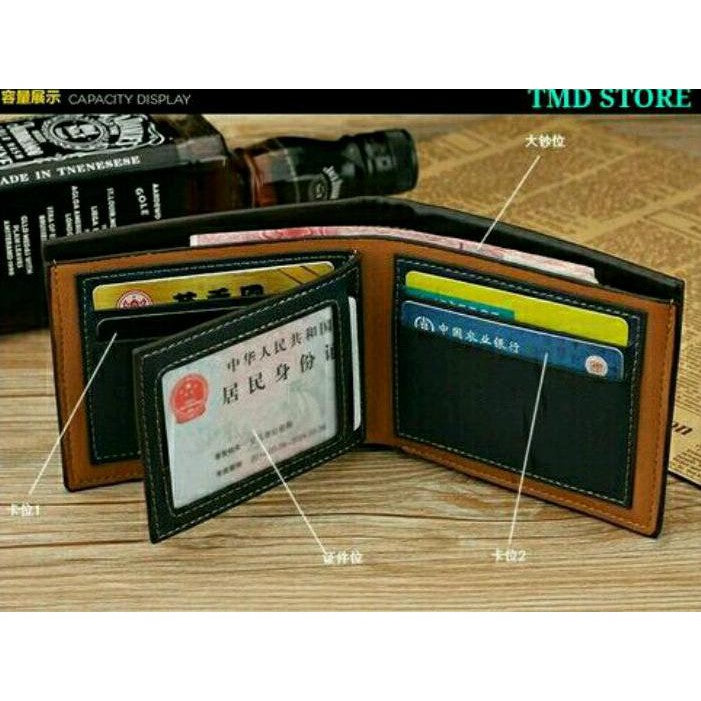 PROMO DOMPET PRIA KULIT PU MEWAH LUXURY HOT VINTAGE MEN WALLET PURSE MONEY  KARTU KREDIT 7e293d786d