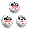 3 x 15g Tin Combo Moustache Wax