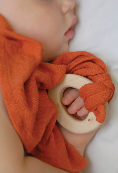 Loullou Silk Teether Blankie Krap