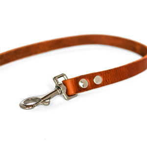 No Fuss Leather Leash Brown