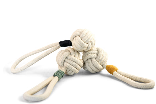 Tie the Knot Tug Toy Cream - Cooper & Quint