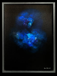 Lauren Baker - Galaxy Explosion (Crystal Rocks - Blue) (Framed)