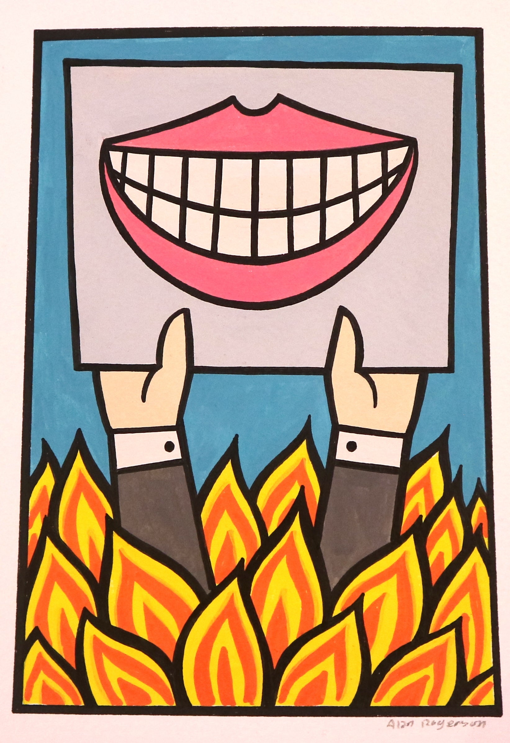 Alan Rogerson - Untitled mini painting 1 (Smile)