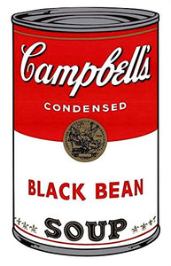 Andy Warhol / Sunday B Morning - Campbell's Soup Can, Series 1, Black Bean