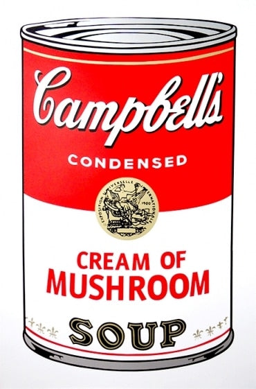 Andy Warhol / Sunday B Morning - Campbell's Soup Can, Series 1, Cream of Mushroom