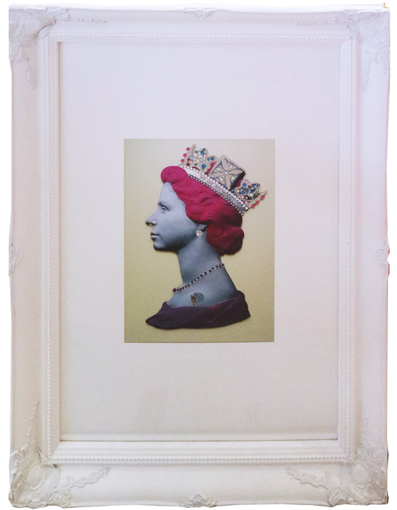 Illuminati Neon - Baby Pink Punk Queen (Framed)