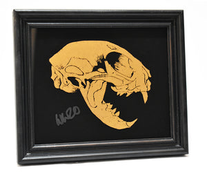 Will Wright - Buzz 1- Gold Glass - Framed
