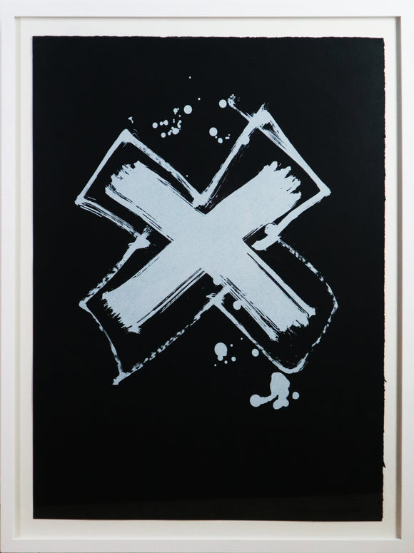 Iain Robertson - Black and White Cross (Black) (Framed)