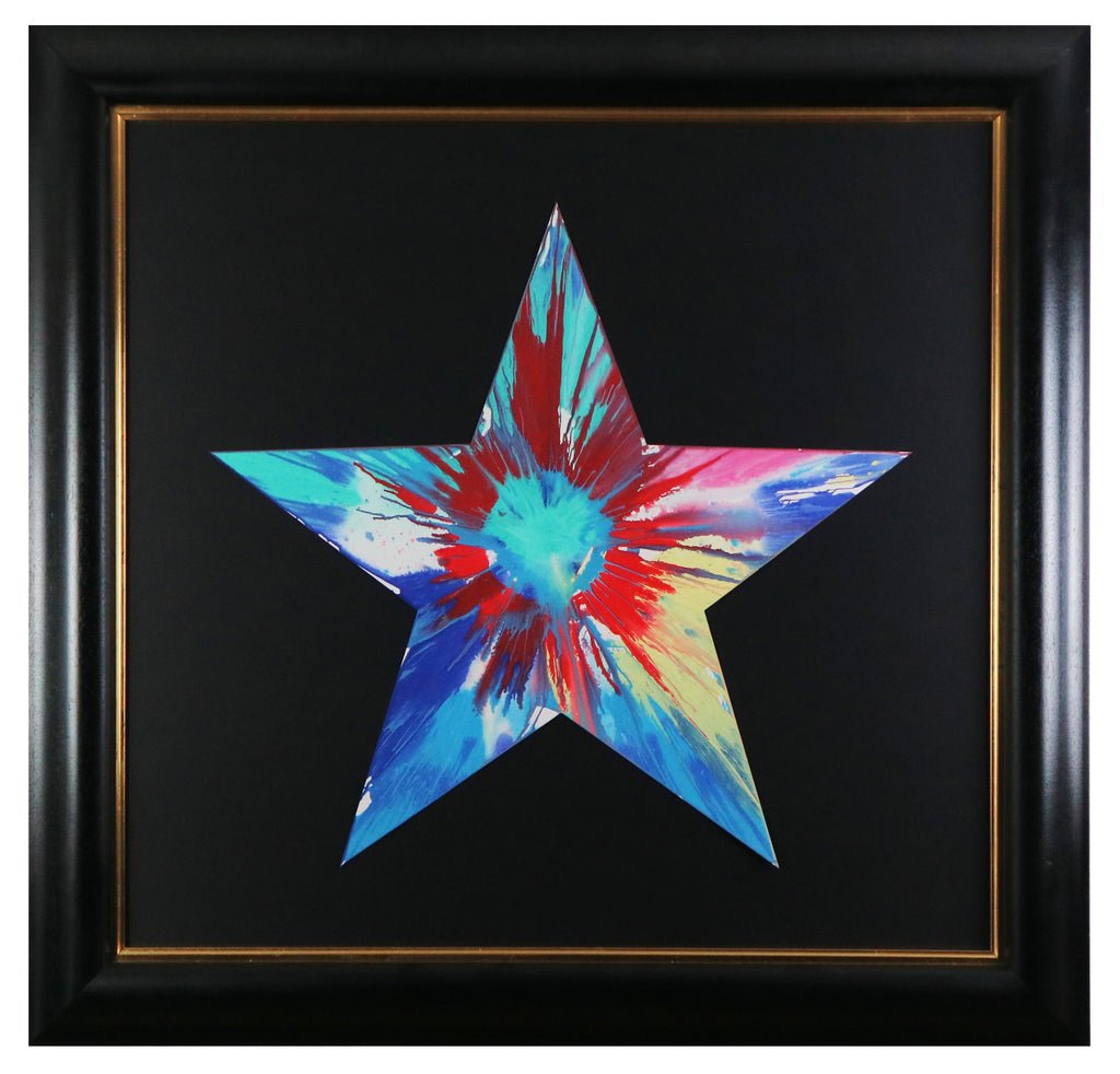 Damien Hirst - Star (Spin Painting - Framed)