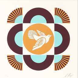 Shepard Fairey - Geometric Dove (White) - Obey