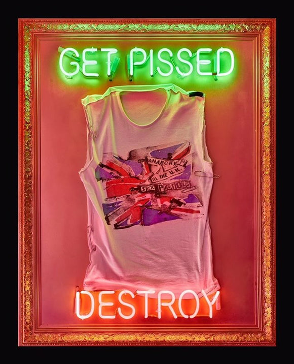 Illuminati Neon - Get Pissed Destroy - Sex Pistols Seditionaries Shirt Neon