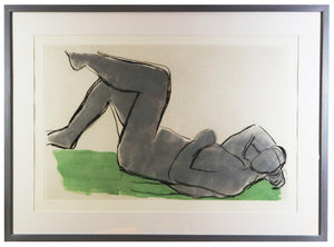 Victoria Achache - Figure Lying Down (Framed)