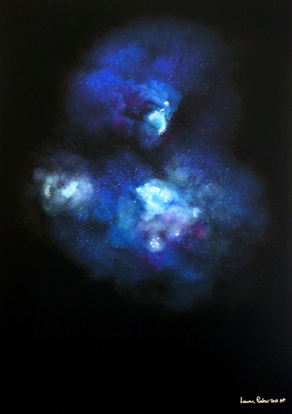 Lauren Baker - Galaxy Explosion (Diamond Dust - Blue)