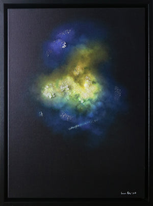 Lauren Baker - Galaxy Explosion (Crystal Rocks - Yellow) (Framed)