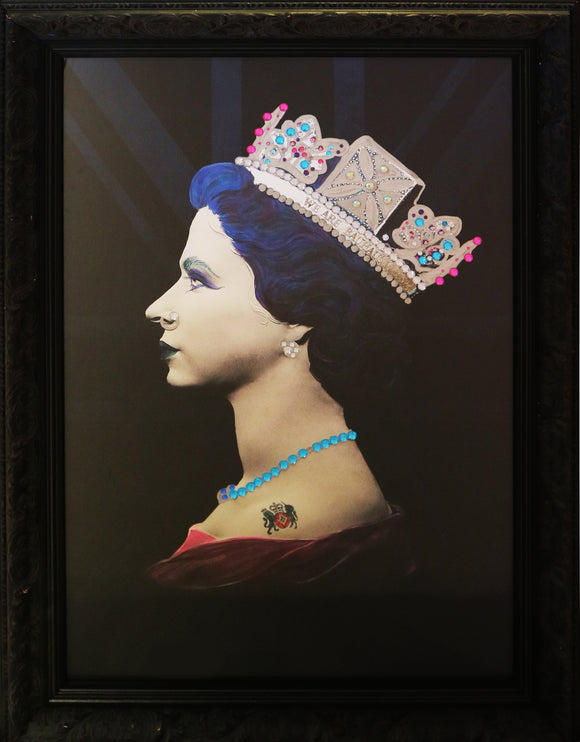 Illuminati Neon - Goth Queen (Framed)