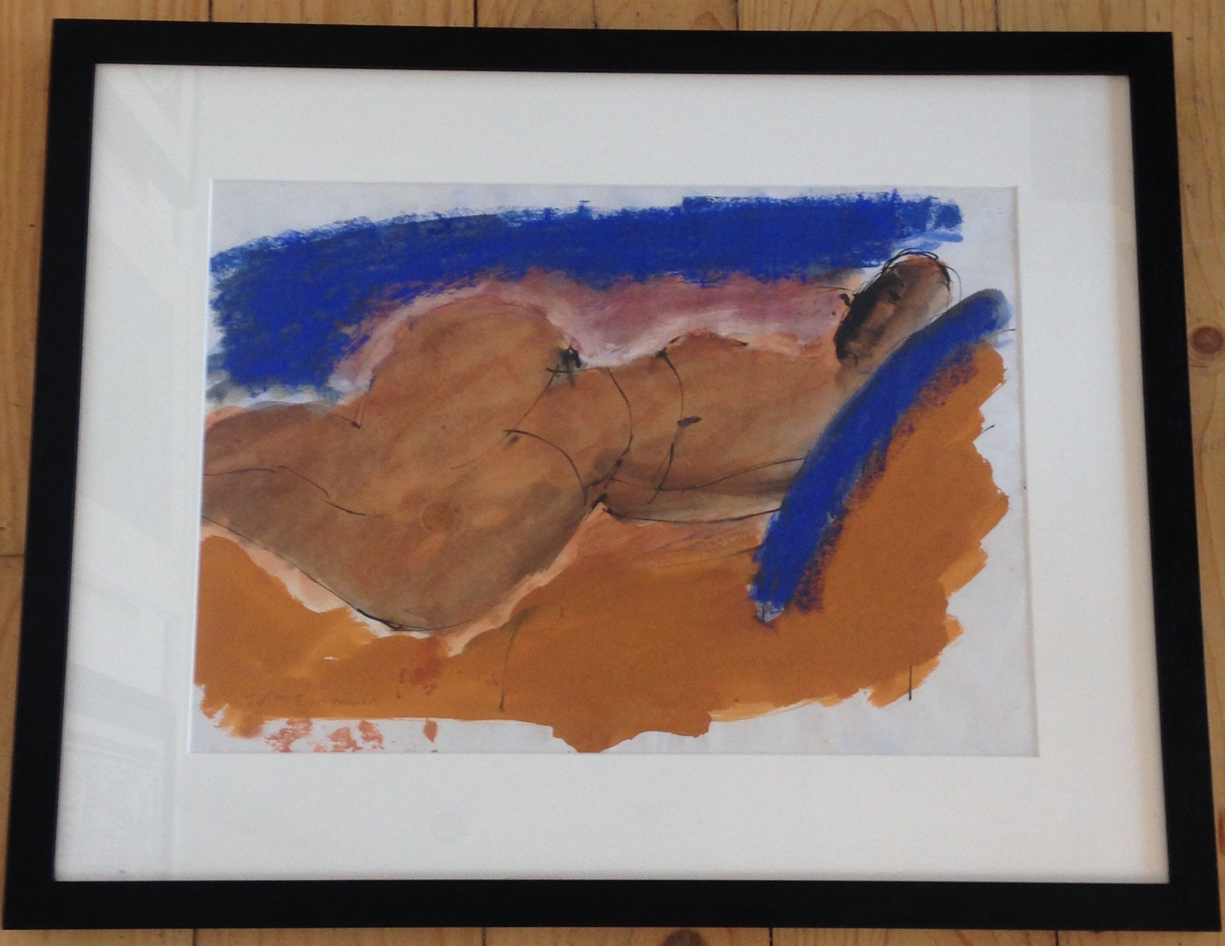 John Emanuel - Reclining Figure - original painting