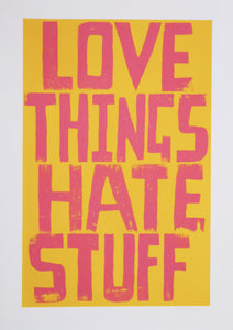 Alan Rogerson - Love Things Hate Stuff
