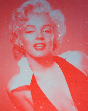 David Studwell - Marilyn Monroe - Neon Red - Diamond Dust