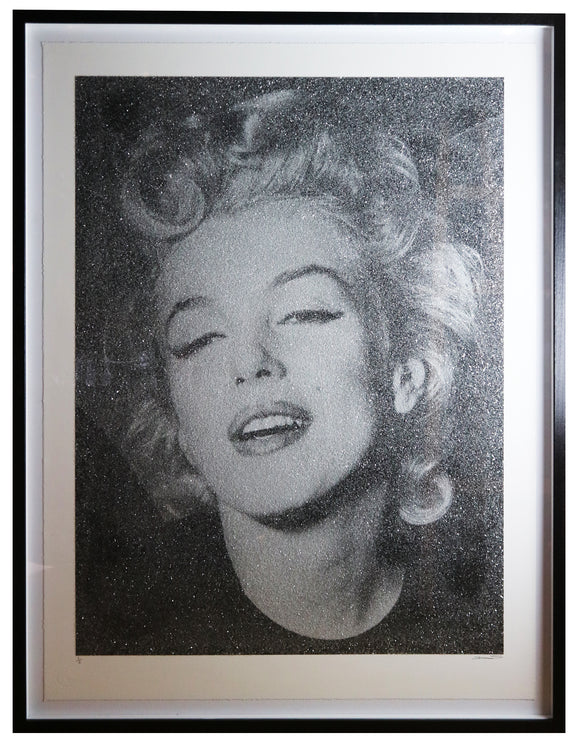 David Studwell - Marilyn Monroe Silver Diamond Dust (Framed)