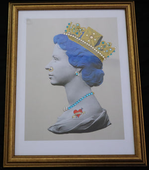 Illuminati Neon - Mini Blue Punk Queen (Framed)