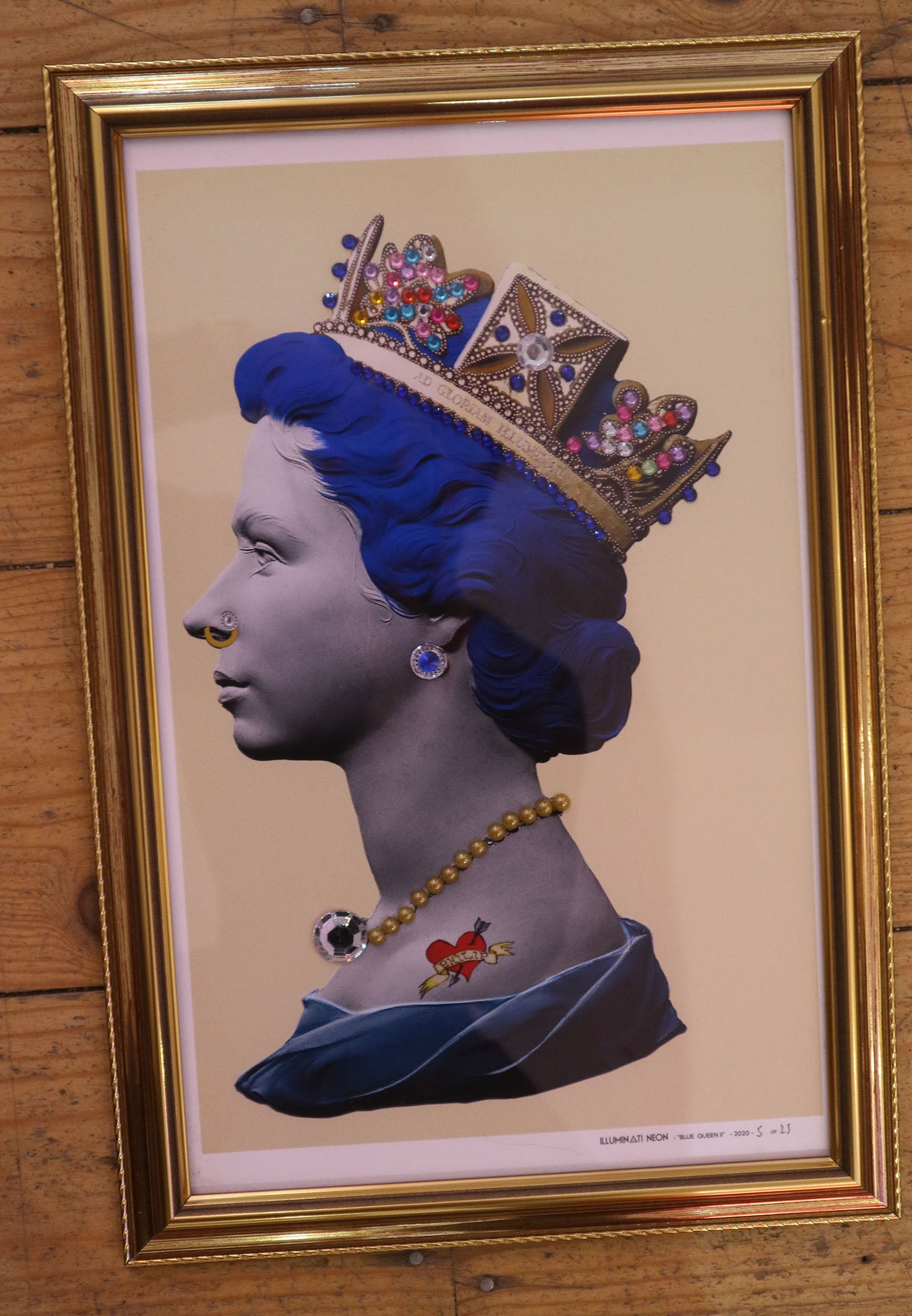 Illuminati Neon - Small Blue Punk Queen (Framed)